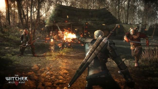 The_Witcher_3_Wild_Hunt-Geralt_torching_enemies